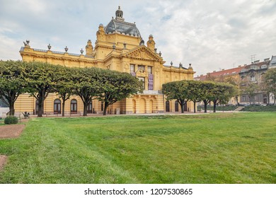 Zagreb - Close-Up to  Art Pavilion, it opened on December 15, 1898, the pavilion was one of the first fully prefabricated structures in Europe, Zagreb, Croatia, Zagreb, 18.10.2018