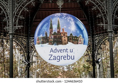 Zagreb, Croatia, 11/28/2018 - A walk through the Zagreb city during the advent preparations