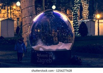 Zagreb, Croatia 12/11/2018  Advent in the centre of Zagreb which is proclaimed the best Advent in Europe.