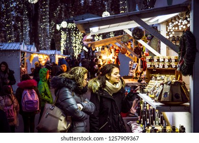 Zagreb, Croatia 12/11/2018 Advent in the centre of Zagreb which is proclaimed the best Christmas market in Europe for the last three years.