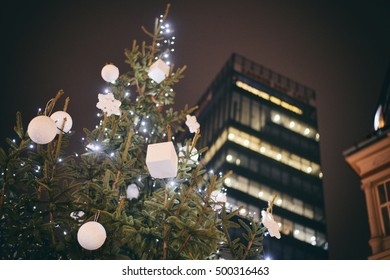 ZAGREB, CROATIA - 18 DECEMBER, 2015: Christmas tree decoration in the center of the city. Advent in Zagreb Fair was voted as the European Best Destination for 2016.