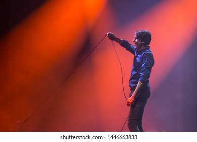 Zagreb, Croatia - 25th June, 2019 : Suede band performs on the 14th INmusic festival located on the lake Jarun in Zagreb, Croatia.