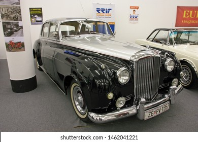 ZAGREB, CROATIA – APRIL 13, 2018: Bentley S1 from 1957, was a luxury car produced by British manufakturer Bentley Motors Limited, Croatia
