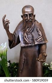 ZAGREB, CROATIA - APRIL 16: Saint Leopold Mandic statue in St. Leopold Mandic church in Zagreb, Croatia on April 16, 2016.