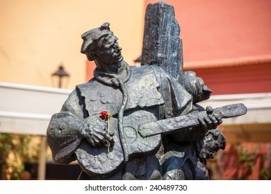 ZAGREB, CROATIA - APRIL 19, 2014: Statue of Petrica Kerempuh located in Opatovina just above the Dolac market.