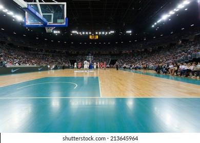 ZAGREB, CROATIA - AUGUST 26, 2014: Friendly basketball game - Croatia vs Lithuania.