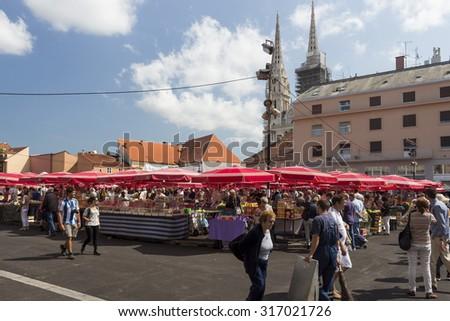 ZAGREB CROATIA AUGUST 26 2015 Customers Stock Photo (Edit