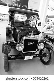 ZAGREB, CROATIA - AUGUST 3rd. 2015. - Antique Car 1922 Ford Model T in the automotive exhibition in Zagreb, Croatia