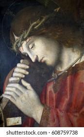 ZAGREB, CROATIA - DECEMBER 12: Marco Palmezzano: Christ Carrying the Cross, December 12, 2011. in Zagreb, Croatia