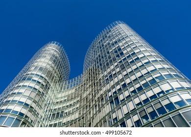 ZAGREB, CROATIA - DECEMBER 2015: Sky Tower office building in Zagreb.