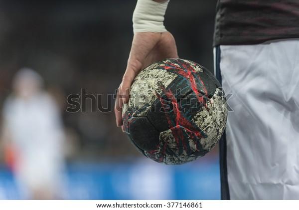 ZAGREB, CROATIA - FEBRUARY 10, 2016- EHF CHAMPIONS LEAGUE -PPD Zagreb VS Paris Saint Germain.