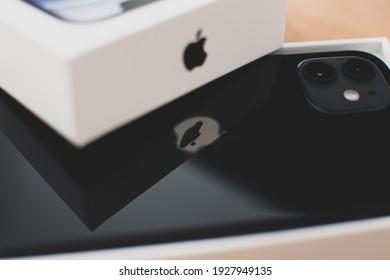 Zagreb, Croatia - February 16, 2021: Apple iPhone 12 smartphone