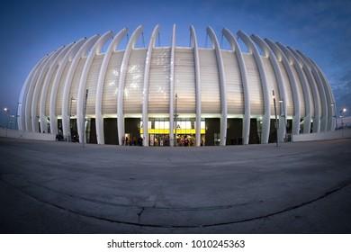ZAGREB, CROATIA - JANUARY 24, 2018: Arena Zagreb, one of home venues for EHF EURO Croatia 2018.