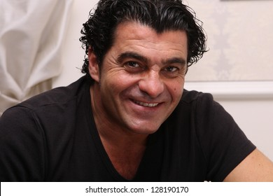 ZAGREB, CROATIA - JANUARY 4: A portrait of the famous skier Alberto Tomba at the Snow Queen Men's Night on January 4, 2012 in Zagreb, Croatia.