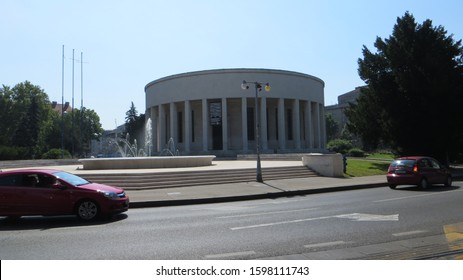 Zagreb / Croatia - July 12, 2016: Mestrović Pavillion (Home of Croatian Artists) is an art gallery and an architectural masterpiece created by Ivan Mestrovic.
