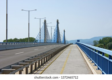 ZAGREB, CROATIA - JULY 4, 2014: Homeland bridge is a bridge over the Sava river located in southeastern part of Zagreb, Croatia
