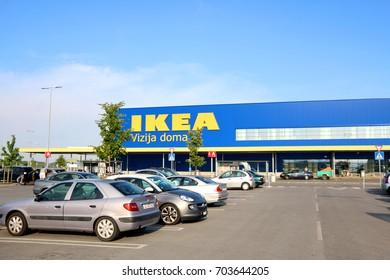 Zagreb, Croatia - June 22, 2017: Ikea department store in Zagreb, Croatia. Ikea is the world`s largest furniture retailer.