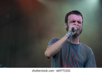 ZAGREB, CROATIA - JUNE 27, 2017: Zagreb Rockfest