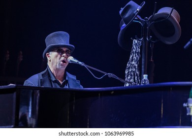 ZAGREB, CROATIA - MARCH 09, 2018: American rock band Toto on 40 Trips Around The Sun Tour. David Paich Emmy and Grammy award-winning keyboardist and singer of rock band Toto
