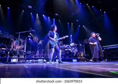 ZAGREB, CROATIA - MARCH 09, 2018: American rock band Toto on 40 Trips Around The Sun Tour.