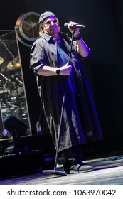 ZAGREB, CROATIA - MARCH 09, 2018: American rock band Toto on 40 Trips Around The Sun Tour. Joseph Williams rock singer of rock band Toto