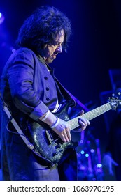 ZAGREB, CROATIA - MARCH 09, 2018: American rock band Toto on 40 Trips Around The Sun Tour. Steve Lukather guitar player of rock band Toto
