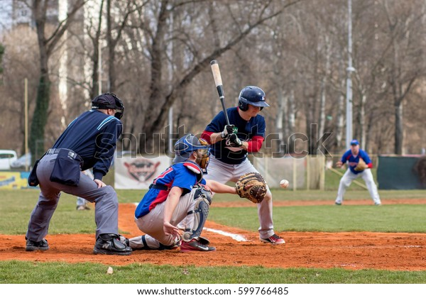 Zagreb Croatia March 12 2017 Baseball Stock Photo (Edit Now) 599766485
