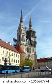 ZAGREB, CROATIA – MARCH 21, 2014: View of Cathedral of Assumption of the Blessed Virgin Mary in Zagreb, Croatia