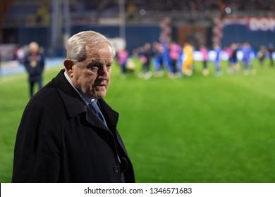 ZAGREB, CROATIA - MARCH 21, 2019: UEFA EURO 2020 Qualifying round, Group E. Croatia VS Azerbaijan. Zorislav SREBRIC.