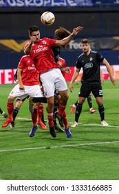 ZAGREB, CROATIA – MARCH 7, 2019: UEFA Europa League 2018/2019, Round of 16, 1st leg. GNK Dinamo Zagreb VS S.L. Benfica.