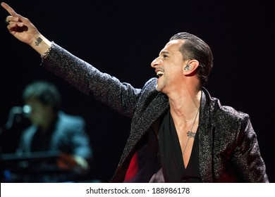 ZAGREB, CROATIA - MAY 23, 2013: Depeche Mode performing in Arena Zagreb during The Delta Machine Tour.