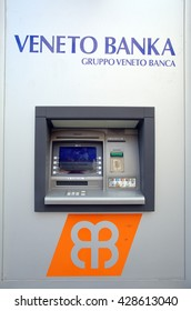 ZAGREB, CROATIA - MAY 26, 2016: A Veneto Banka  d.d. ATM machine.