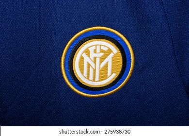 ZAGREB , CROATIA - May 7th , 2015 : Italian football club Inter from Milan sign on game jersey   ,product shot