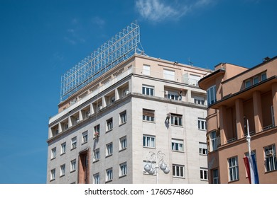 Zagreb, Croatia - May 8, 2020: Building inspection after earthquake by mountaineers