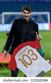 ZAGREB, CROATIA - NOVEMBER 15, 2018: UEFA Nations League football match Croatia vs. Spain. Vedran Corluka