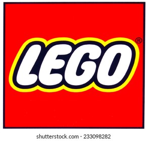 ZAGREB , CROATIA - NOVEMBER 25 , 2014 : Toy company LEGO logo printed on product ,product shot