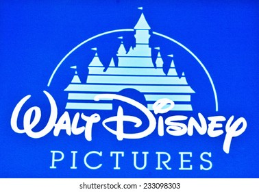 ZAGREB , CROATIA - NOVEMBER 25 , 2014 : Walt disney Pictures company logo printed on product ,product shot
