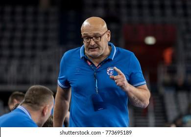ZAGREB, CROATIA - NOVEMBER 29, 2017: EHF Velux Champions League PPD Zagreb vs. Rhein-Neckar Lowen. Zlatan SARACEVIC