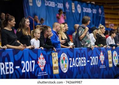 ZAGREB, CROATIA - OCTOBER 1, 2017: IJF Judo Grand Prix Zagreb 2017.