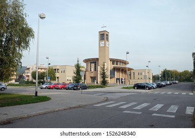 ZAGREB, CROATIA - OCTOBER 17, 2016: Church of Immaculate Conception of the Virgin Mary in Malesnica residential area, Zagreb, Croatia