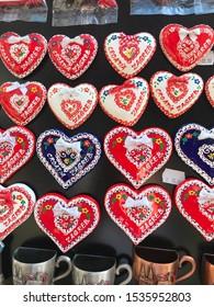 ZAGREB, CROATIA - OCTOBER 19, 2019. - Magnets as souvenirs in shop in Zagreb, Croatia.