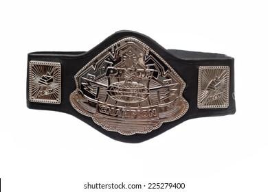 ZAGREB , CROATIA - OCTOBER 22 , 2014 :  Pride fighting championship belt isolated  ,product shot