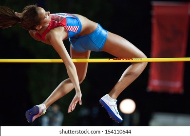 ZAGREB, CROATIA - SEP 3: 63. Boris Hanzekovic Memorial on September 3, 2013 in Zagreb, Croatia. High jump (woman) - Lucija ZUBCIC