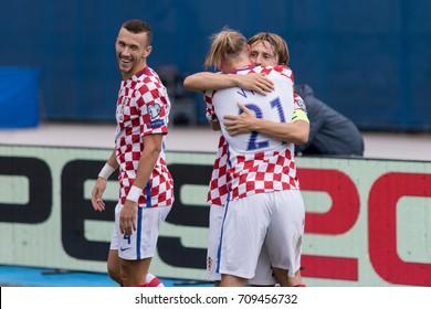 ZAGREB, CROATIA - SEPTEMBER 03, 2017: European qualifier for 2018 FIFA World Cup Russia. Croatia vs Kosovo.