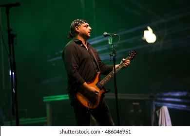 ZAGREB, CROATIA - SEPTEMBER 17, 2016: Opca opasnost rock band on concert on Salata stadium in Zagreb