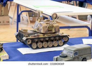 Zagreb, Croatia - September 7 2019: Scale model of M247 Sergeant York.