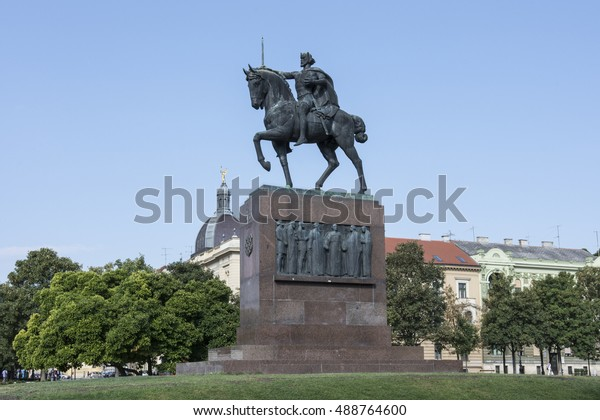 Zagreb Croatia September 8 2016 Spomenik Stock Photo Edit Now