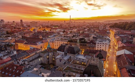 Zagreb From Above Stock Photos Images Photography Shutterstock