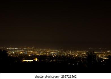 Zagreb at night.