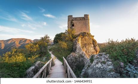 Zahara de la Sierra Castle Tower - Zahara de la Sierra, Cadiz Province, Andalusia, Spain